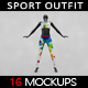 Female Sport Outfit MockUp Vol.2 - GraphicRiver Item for Sale