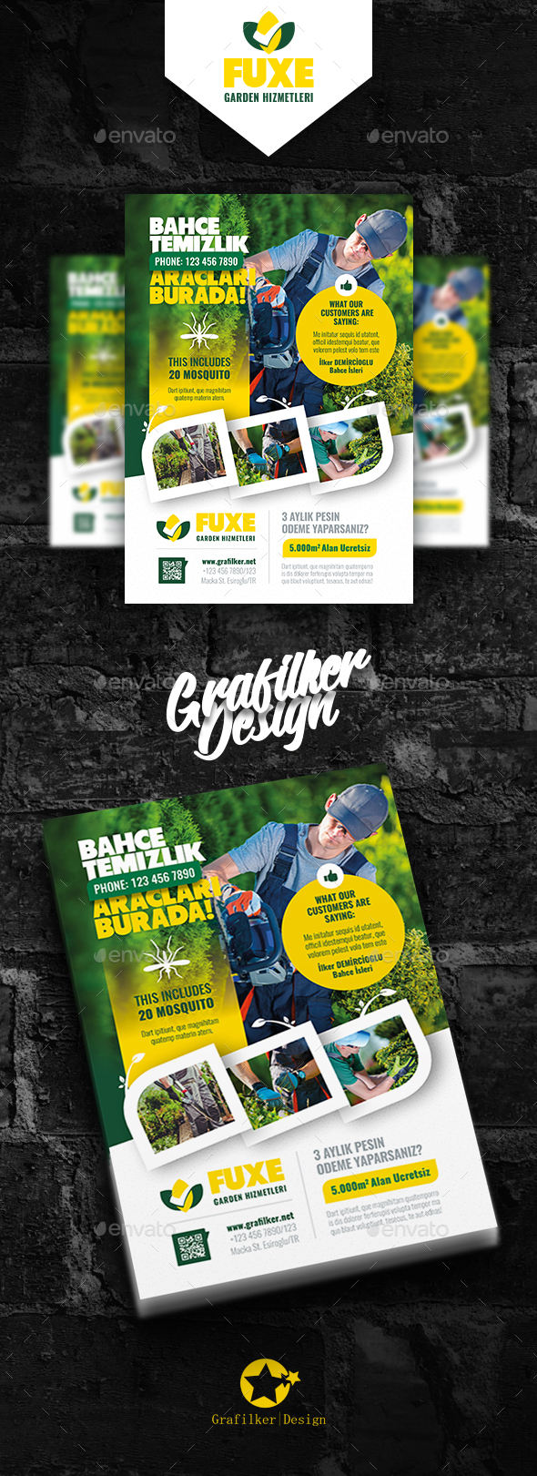 GraphicRiver Garden Landscape Flyer Templates 20370225