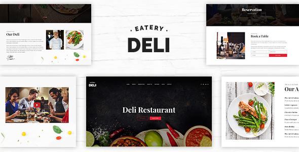 Deli Restaurant | Restaurant PSD Template - Restaurants & Cafes Entertainment