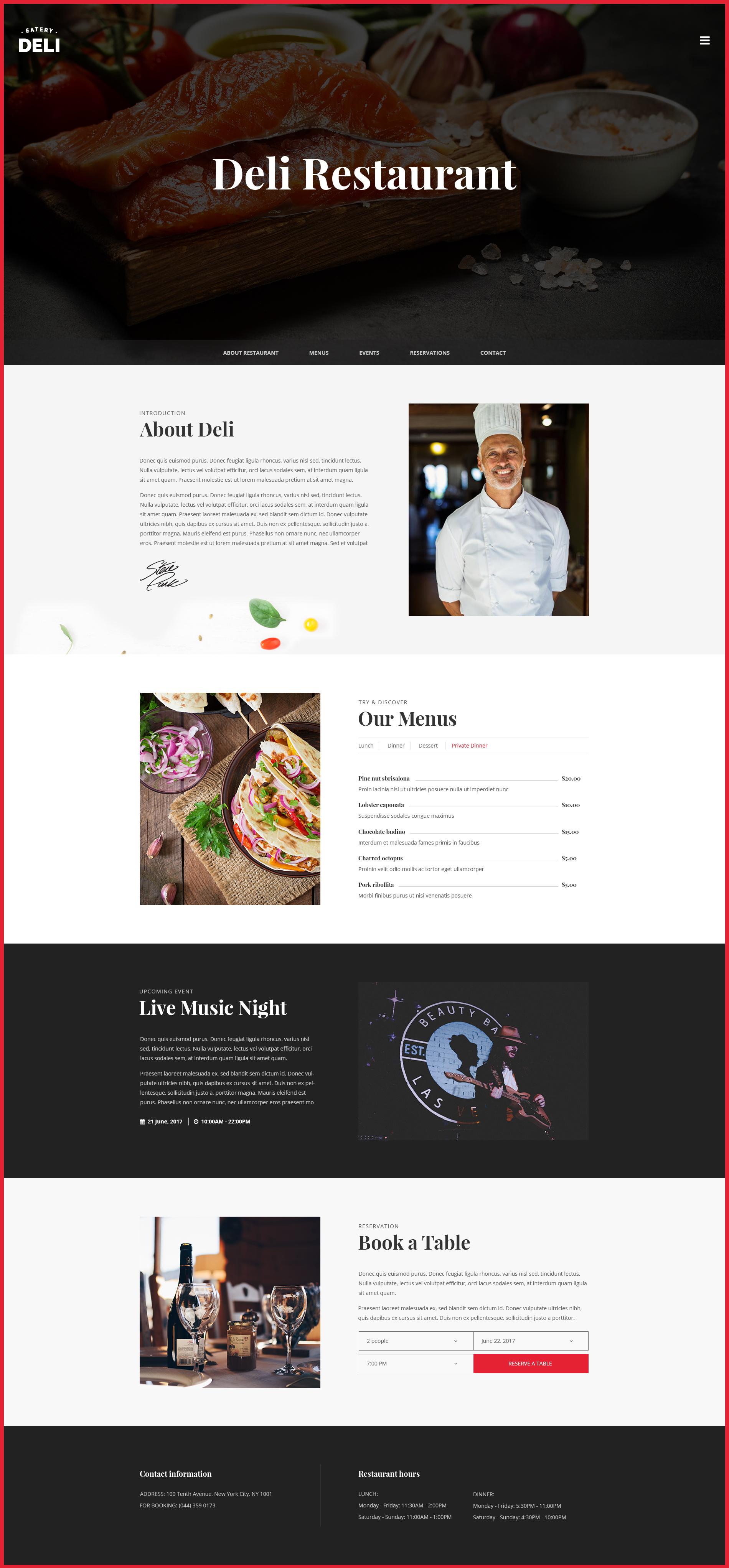 Deli Restaurant Restaurant Psd Template By Designgalaxy8