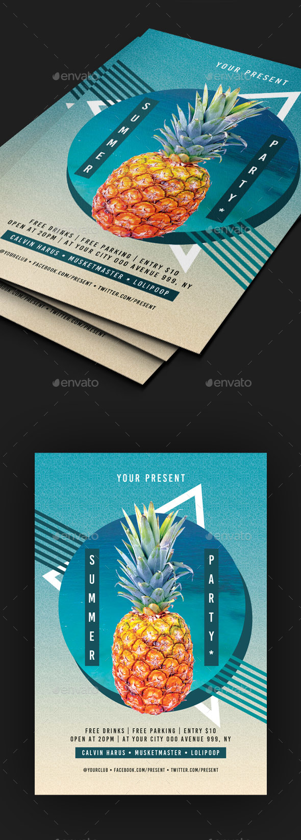 GraphicRiver Summer Party Flyer 20370317