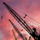 Building Construction and Sunset Sky - VideoHive Item for Sale