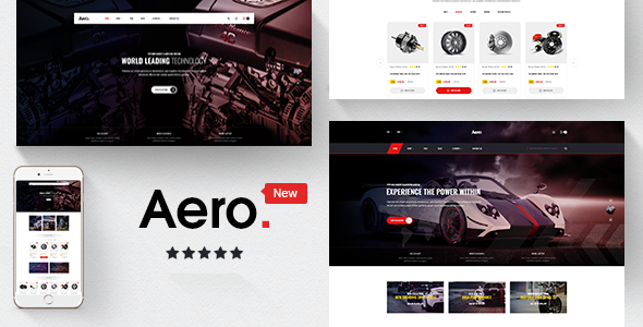 Aero - Car Accessories Responsive Magento Theme