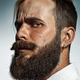 Portrait of hipster bearded man's side face. - PhotoDune Item for Sale