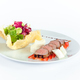 Close Up of Rack of Saucy Barbecue Pork Served on Plate in Restaurant - PhotoDune Item for Sale