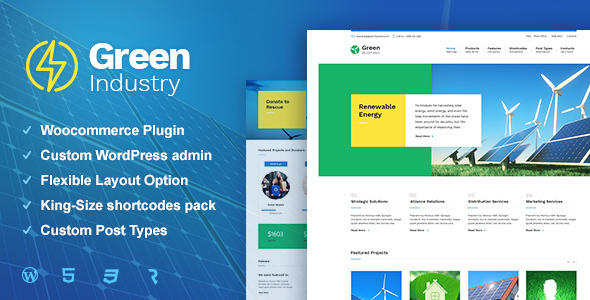 Green Industry - Renewable Energy & Ecology Friendly Industrial Theme - Business Corporate