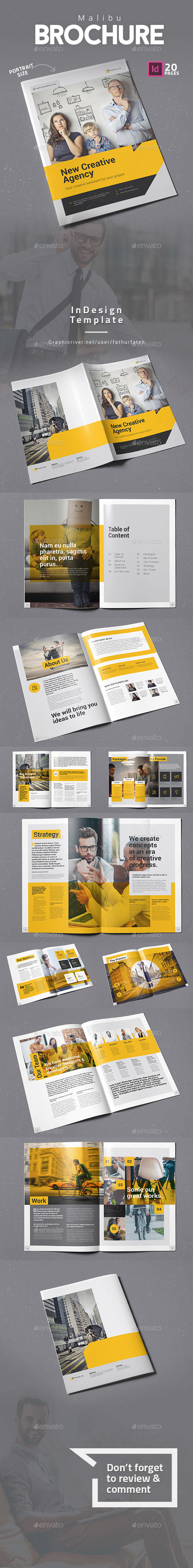 GraphicRiver Malibu Brochure 20370462