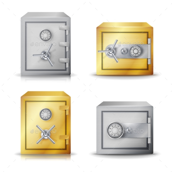 GraphicRiver Metal Safe Realistic Vector 20370473