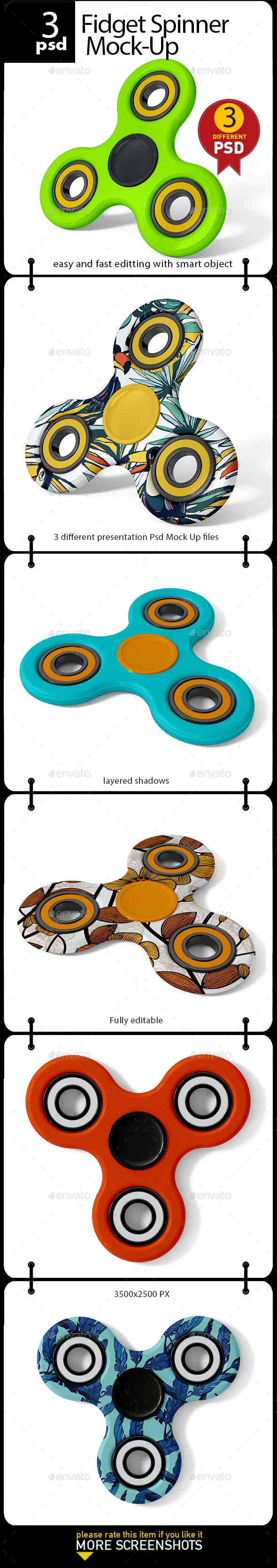 Fidget Spinner Mock-Up - Product Mock-Ups Graphics