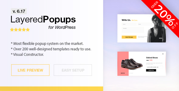 Popup Plugin for WordPress - Layered Popups - CodeCanyon Item for Sale