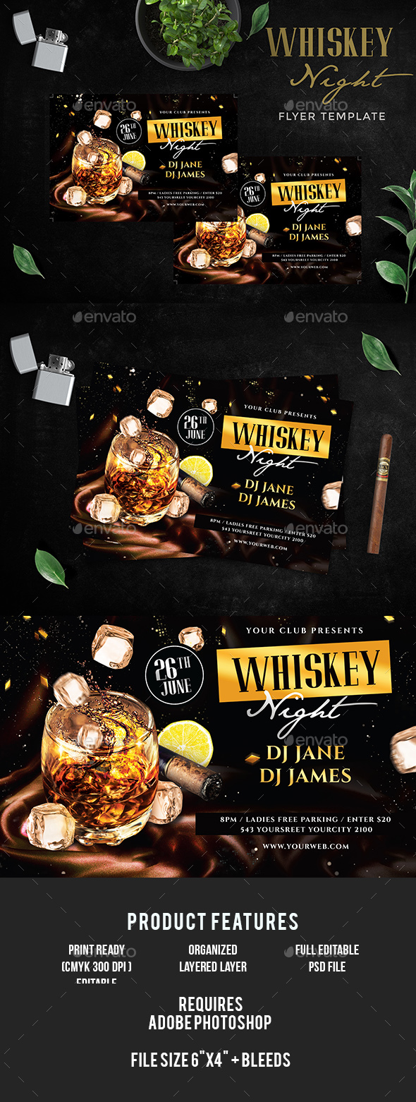 GraphicRiver Whiskey Flyer 20370587