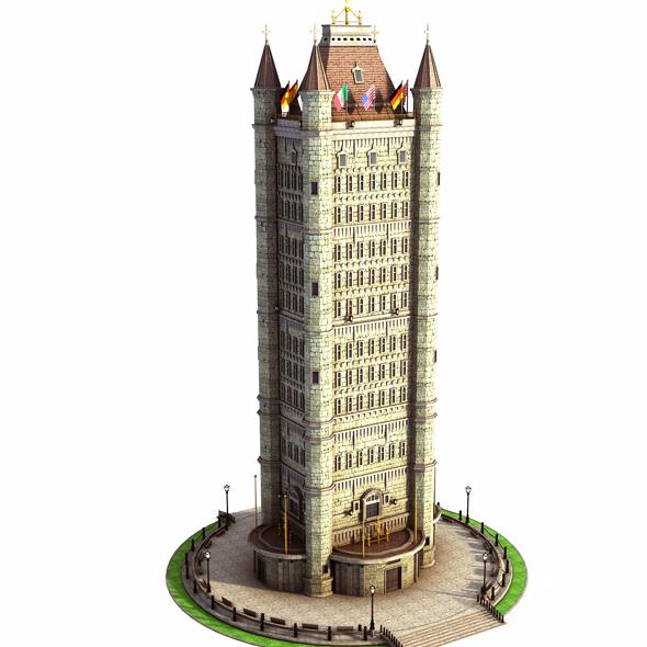 3DOcean Old Skyscraper 20370693