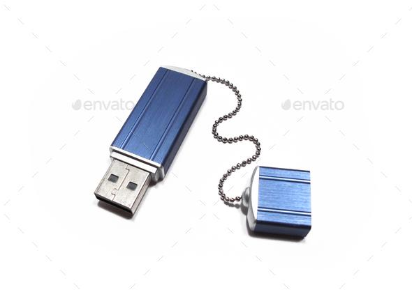flash drive on white