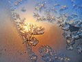 Ice pattern and sunlight on winter glass - PhotoDune Item for Sale