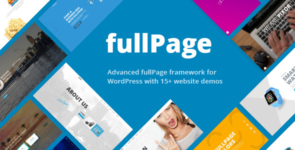 FullPage - Fullscreen Multi Concept Theme
