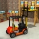 Low poly Fork Lift 3d Model.