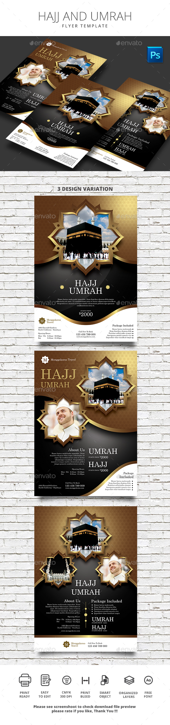 Hajj and Umrah - Flyers Print Templates
