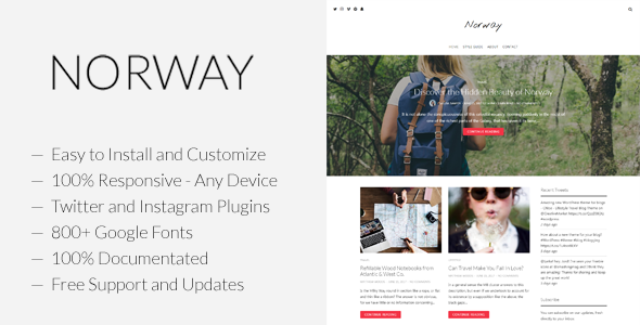 Norway - Responsive WordPress Lifestyle, Travel Blog & Magazine Theme - Blog / Magazine WordPress