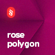 10 Different Realistic Rose Polygon Backgrounds
