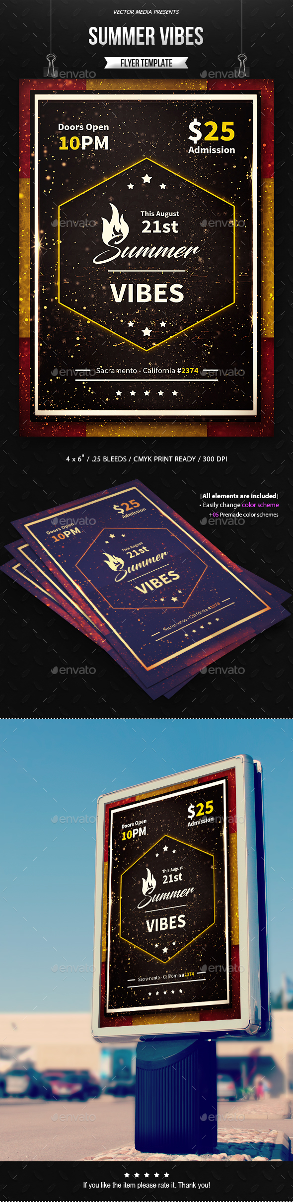 GraphicRiver Summer Vibes Flyer 20371300