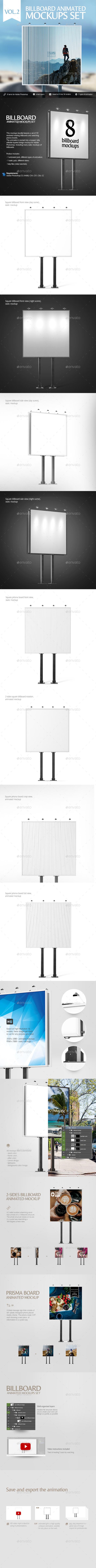 GraphicRiver Billboard Animated Mockups Set Vol.2 20371308