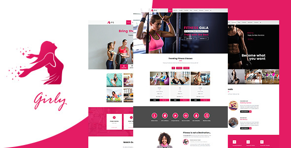 Girly | Women Fitness WordPress Theme