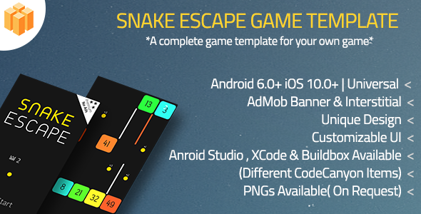 Snake Escape Android Studio Project + OneSignal Push Notification + IAP + AdMob Banner+Interstitial - CodeCanyon Item for Sale