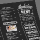 Typography Blackboard Menu - GraphicRiver Item for Sale