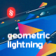 Abstract Flat Geometric Lightning Backgrounds - GraphicRiver Item for Sale
