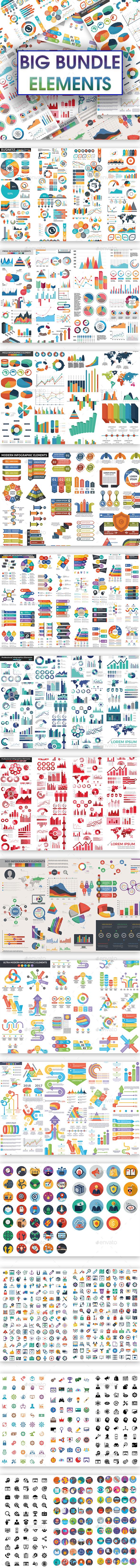 Big Bundle Elements - Infographics