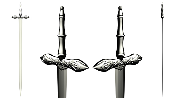 Medieval Sword - 3DOcean Item for Sale
