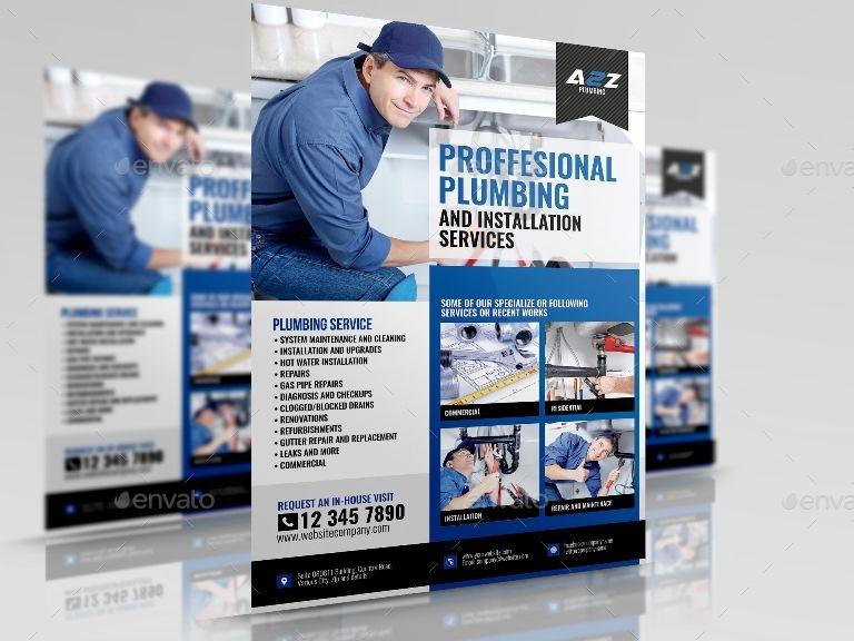 plumbing brochure design plumbing services flyer by artchery graphicriver