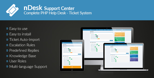 nDesk Support Center - Ticket System - CodeCanyon Item for Sale