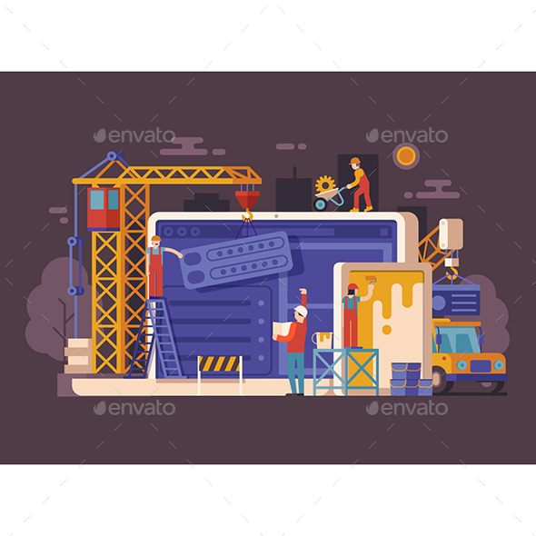 Site Maintenance Page Background - Conceptual Vectors