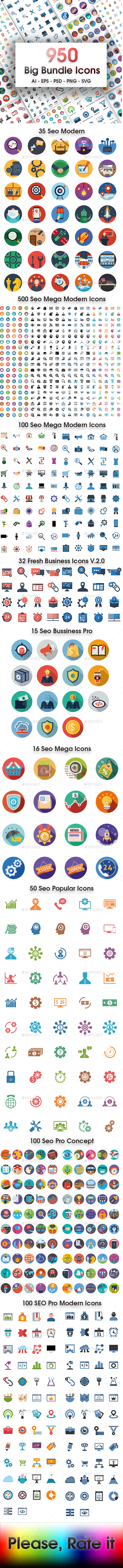 GraphicRiver 950 Big Bundle Icons 20372518