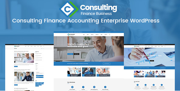 Consulting Finance Accounting Enterprise PSD Template - Corporate PSD Templates