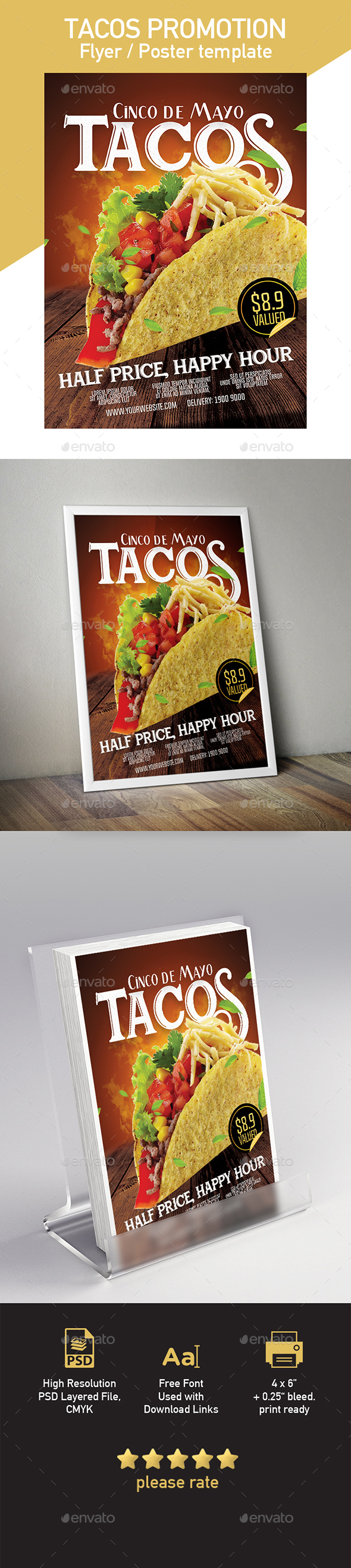 GraphicRiver Tacos Flyer Poster Template 20372629
