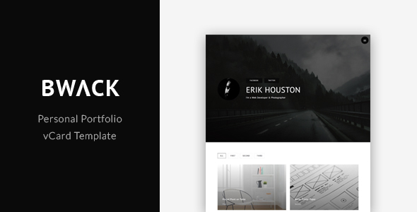 BWACK - Personal Portfolio / vCard Template