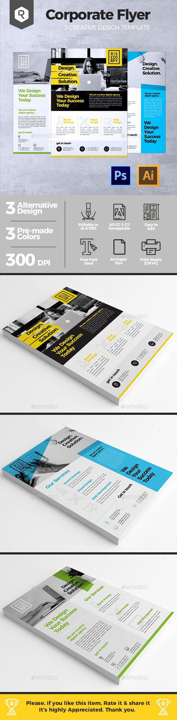 Creative Corporate Flyer Vol. 01 - Corporate Flyers