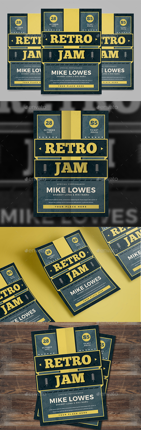 Retro Jam Flyer - Events Flyers