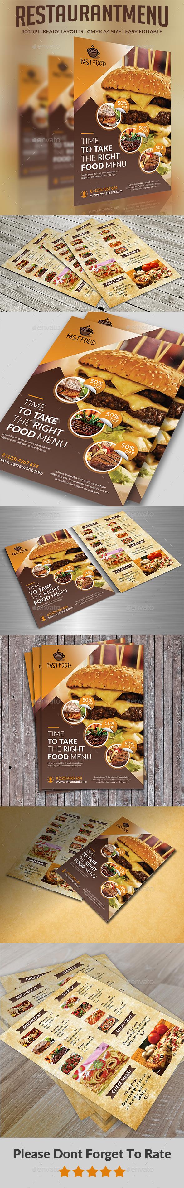GraphicRiver Restaurant Menu 20372805