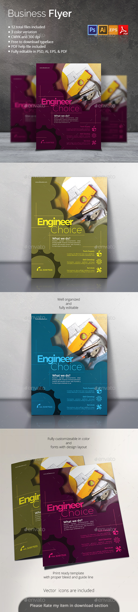 GraphicRiver Business Flyer 20372824