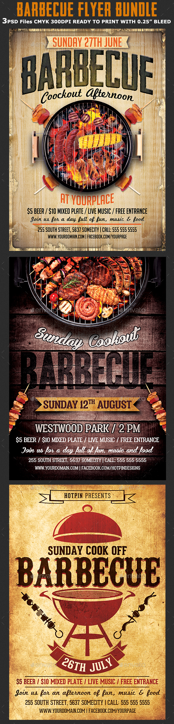 Barbecue Flyer Template Bundle - Events Flyers