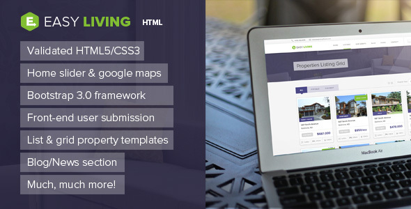Easy Living - Real Estate HTML Template - Business Corporate