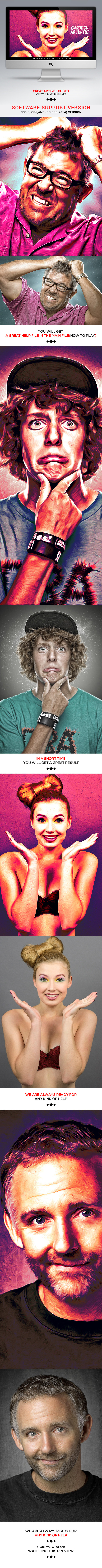 Cartoon Artistic - Photo Effects Actions