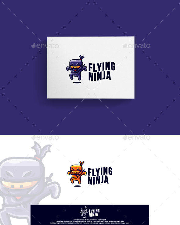 Flying Ninja Logo - Humans Logo Templates