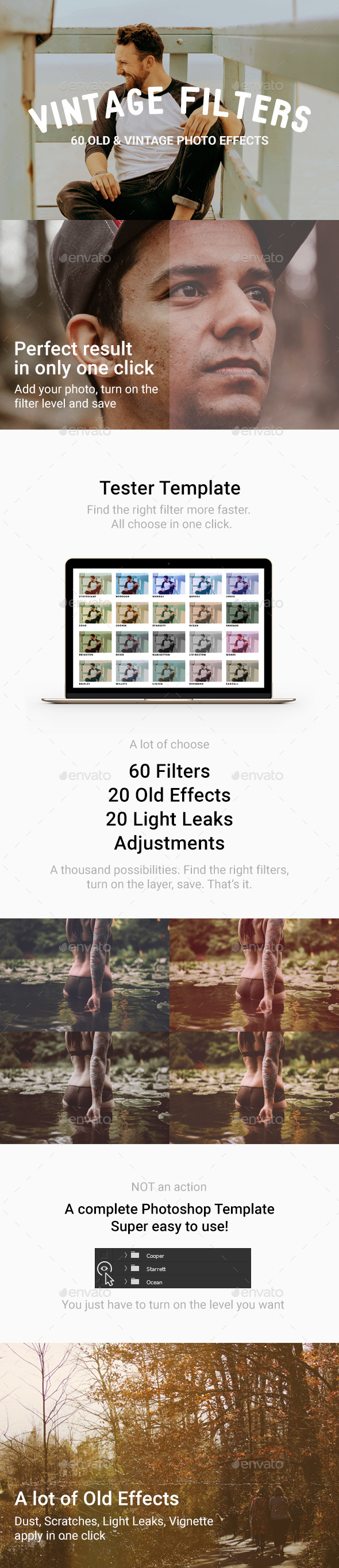 GraphicRiver 60 Vintage Old photo Filter Template 20373422