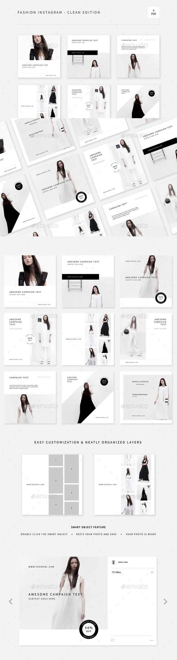 GraphicRiver Fashion Instagram Clean Edition 20373441