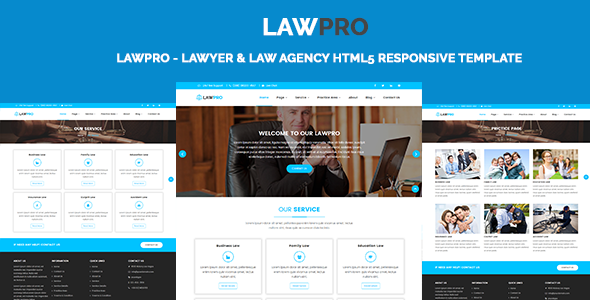 LawPro - Lawyer & Law Agency HTML5 Responsive Template