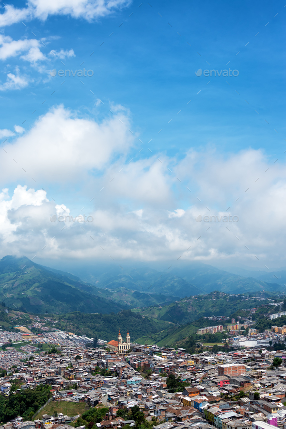 Manizales and Blue Sky - Stock Photo - Images